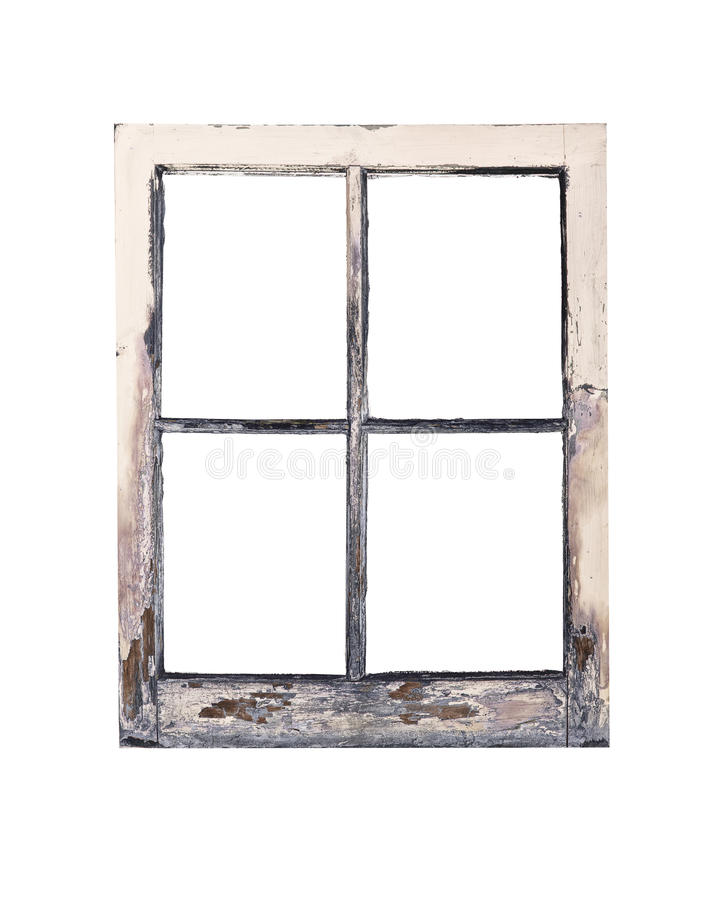 Old rustic window frame stock image. Image of faded, painted - 26103979