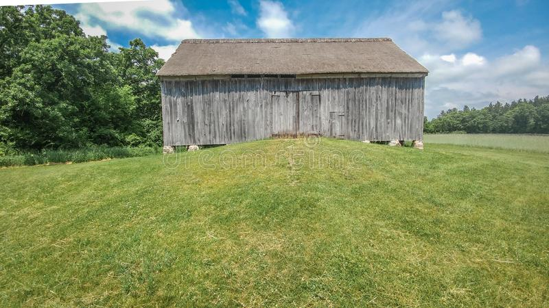 Wooden Barn on a Hill royalty free stock images