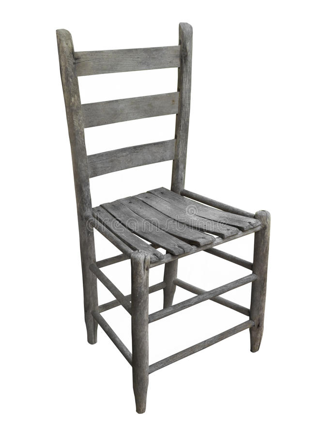 Download Old Rustic Wooden Chair Isolated. Stock Image - Image of ladderback, chairs: 58807123