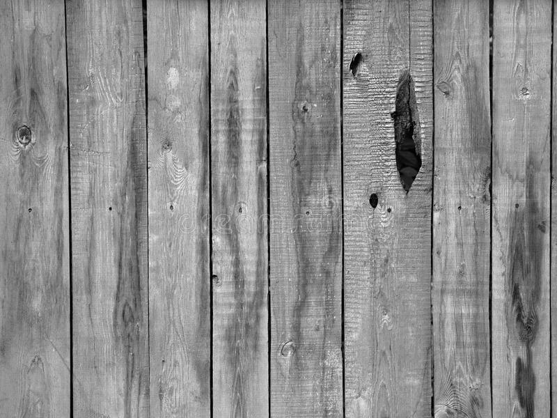 Old Rustic Wooden Fence From Planks With Hole Stock Image Image of