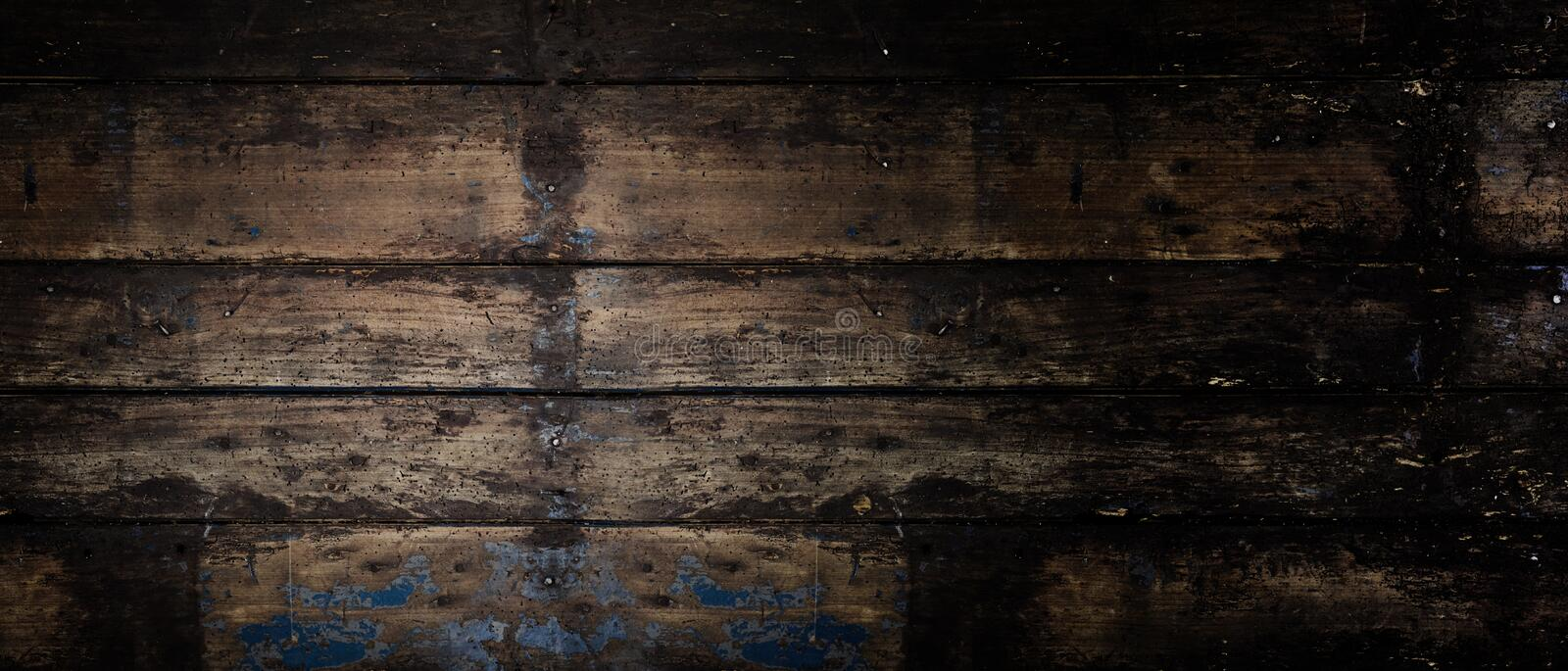 Download Old Rustic Wooden Panoramic Banner Background Stock Image