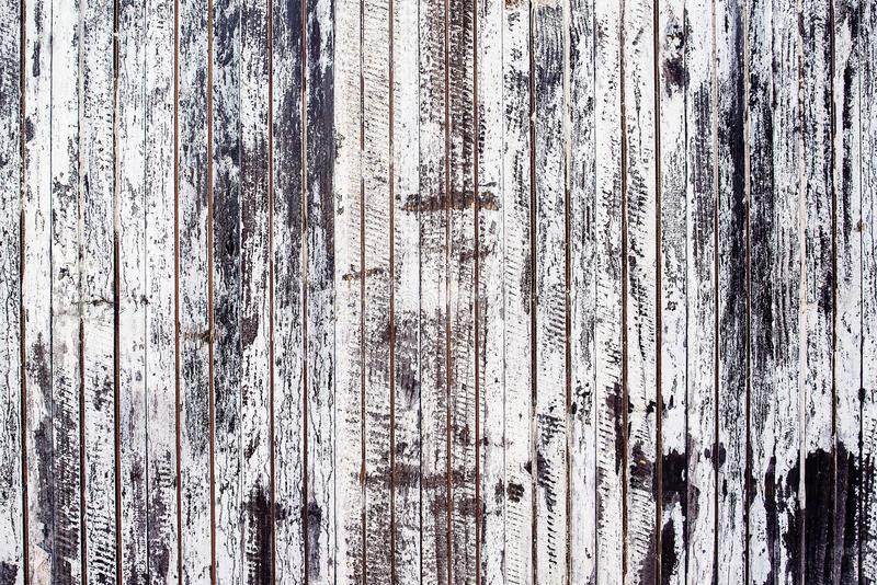 Old rustic wooden plank wall painted white stock photos