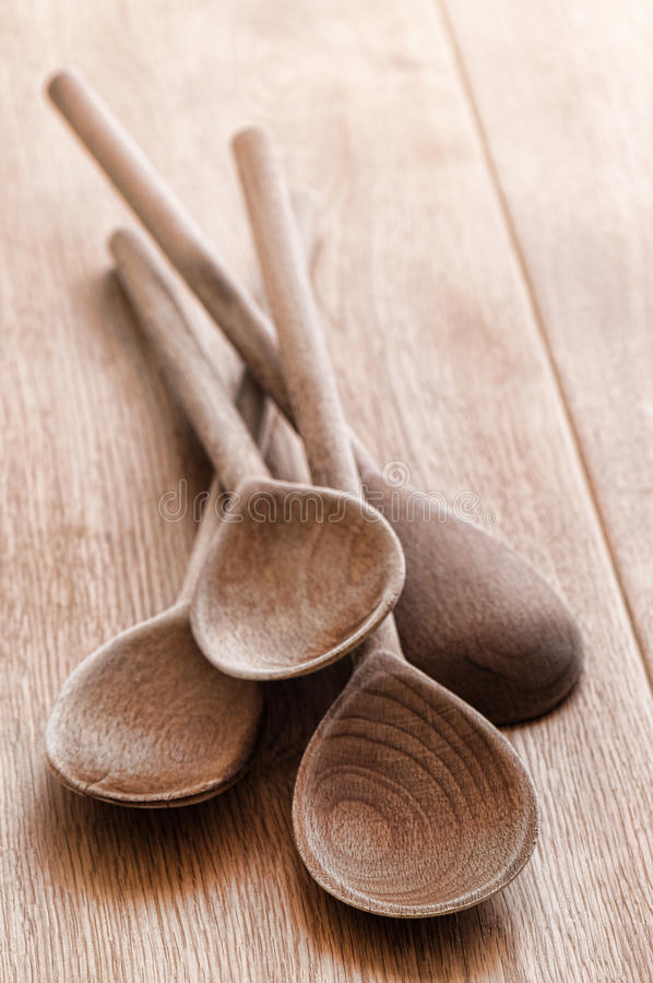 Free Old Rustic Wooden Spoons Royalty Free Stock Images - 12906289