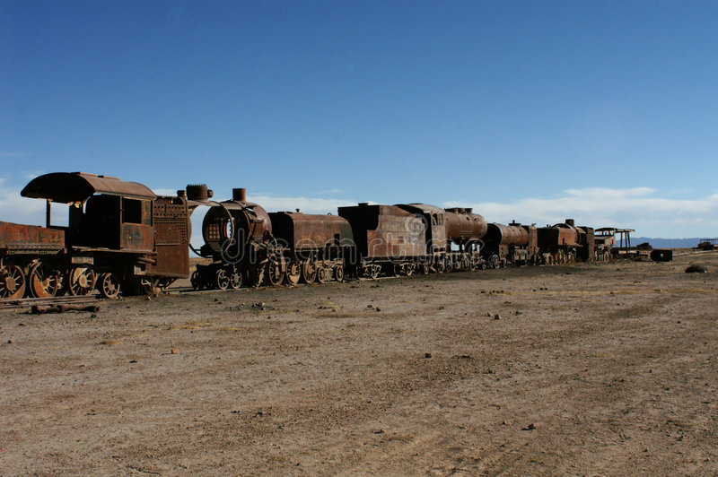 Old rusting train carriages royalty free stock photos