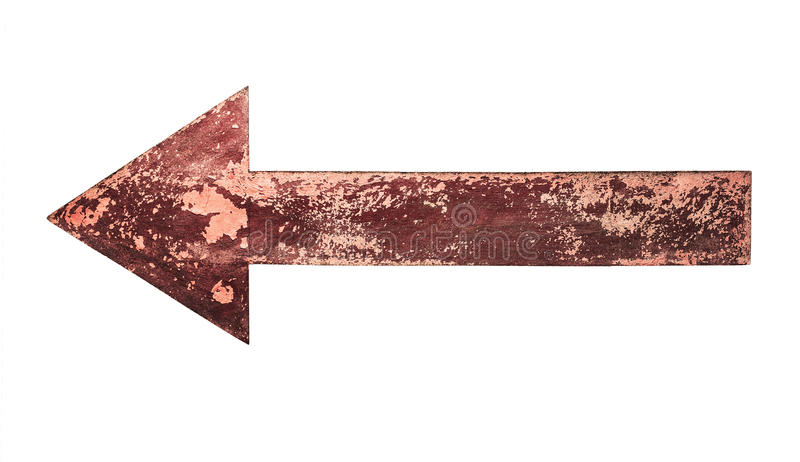 Old, rusty arrow royalty free stock image