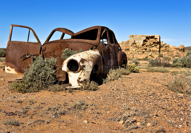 Old rusty car stock image