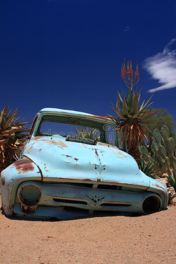 Download Old Rusty Car Wreck Abandoned In Desert Stock Image - Image: 36446679