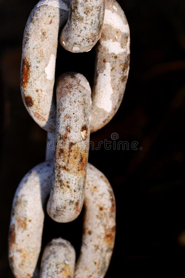 Old rusty chain stock photography