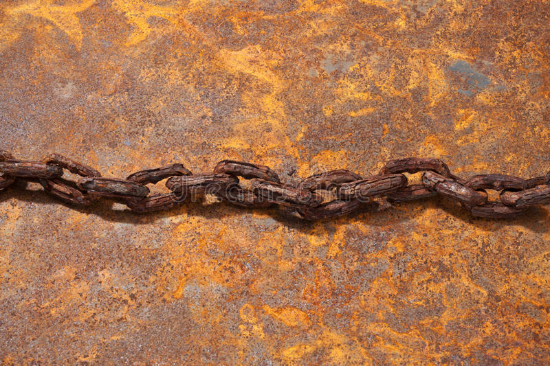 Old Rusty Chain Background stock image