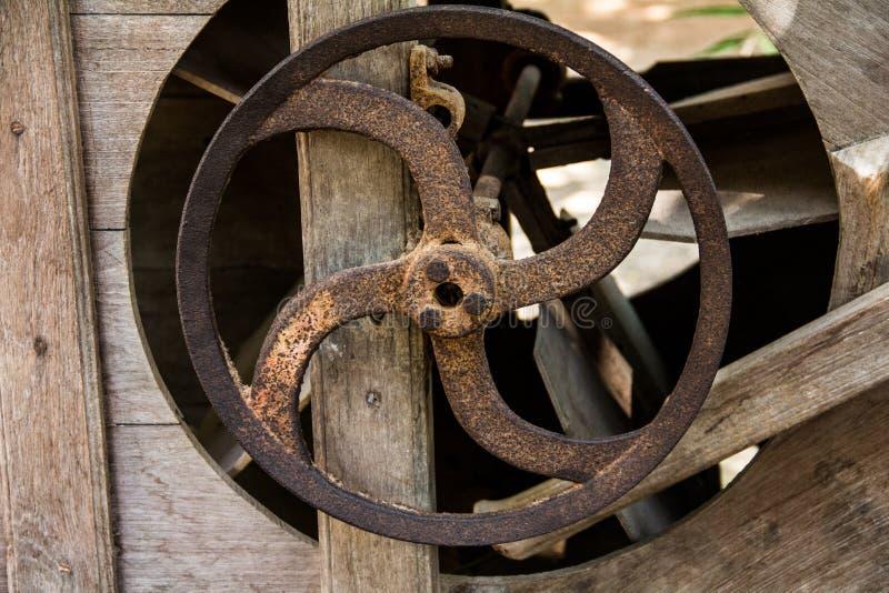 Old rusty cog wheels. stock photo