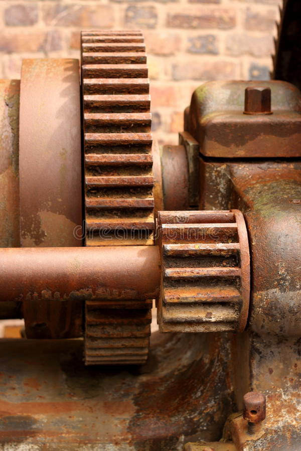 Download Old rusty cogs stock image. Image of steel, gears, industrial - 25452923