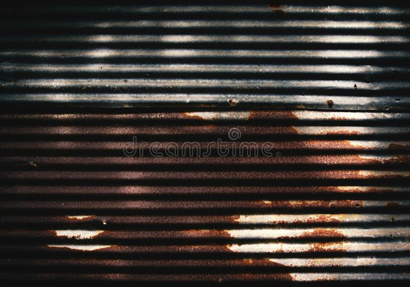 Old rusty corrugated metal royalty free stock photography