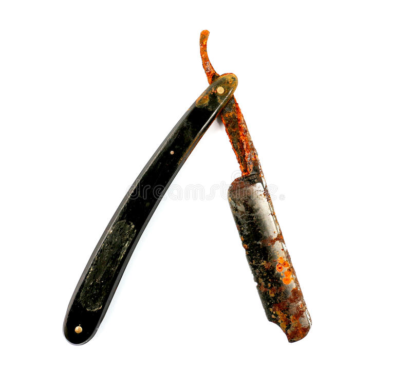 Old rusty damaged razor. Pivture of an old rusty damaged razor royalty free stock images