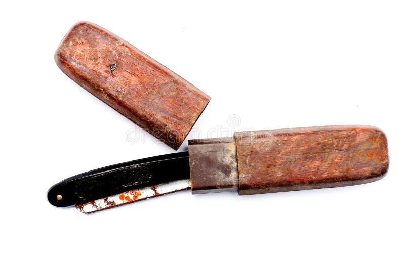 Old rusty damaged razor. Pivture of an old rusty damaged razor stock image