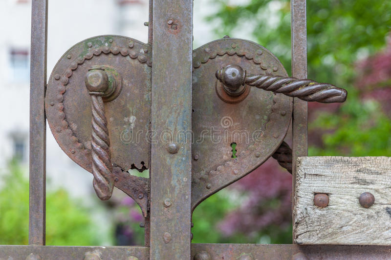 Old rusty door handle royalty free stock photography