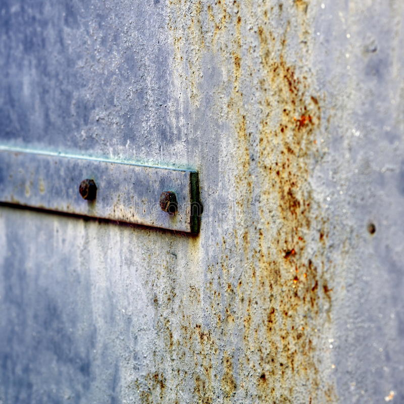 Old rusty doors. Rubbed time stock photography