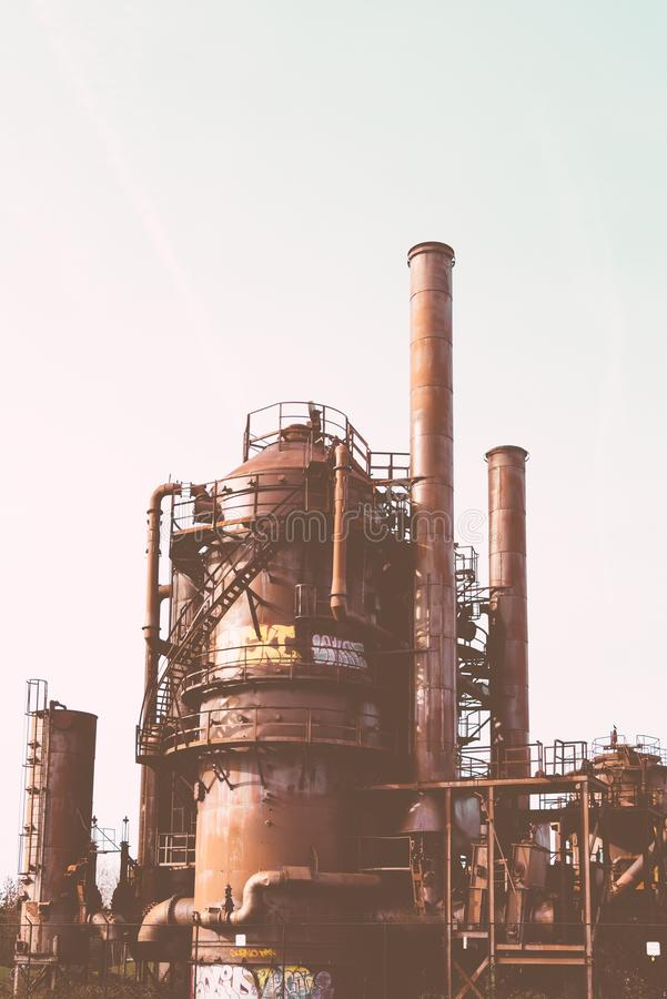 An old rusty factory royalty free stock image