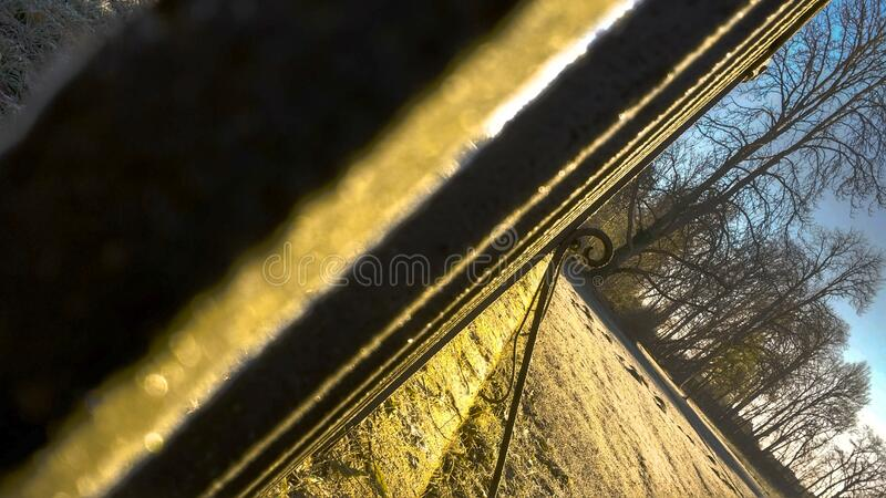 Old rusty fence in an abstract view. 2020 royalty free stock image