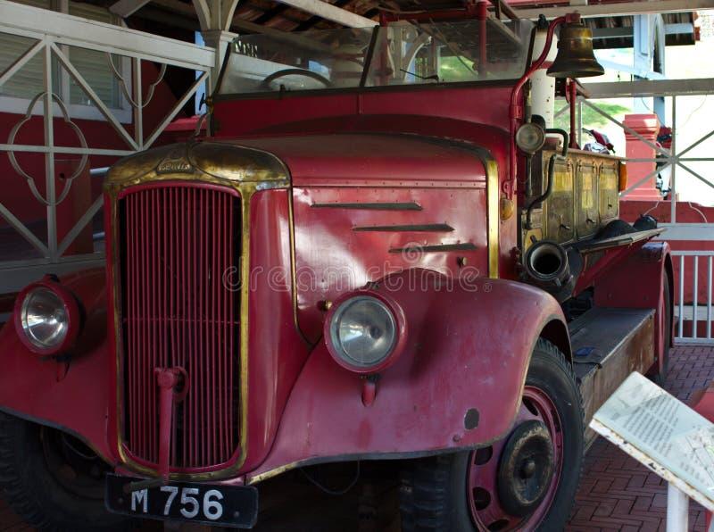 Old rusty fire truck at Melakka stock image