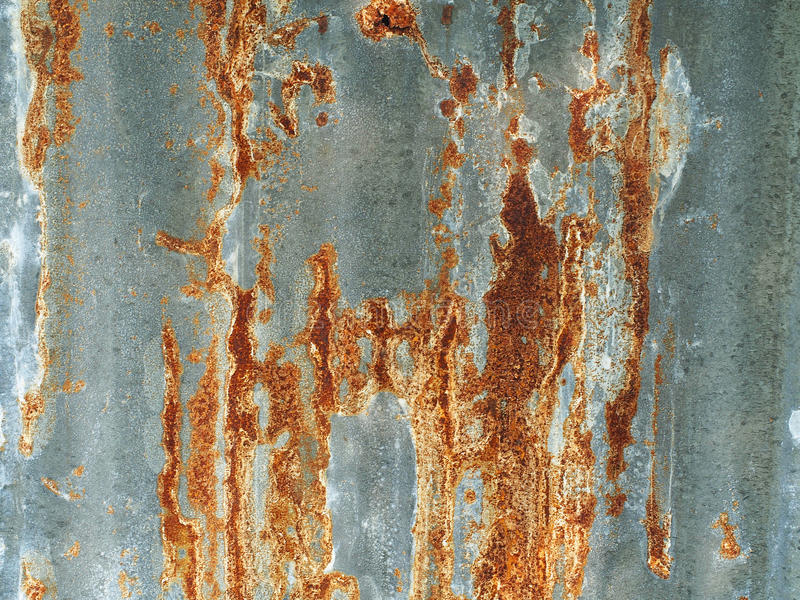 Old rusty galvanized background and texture. Old rusty galvanized and zinc background, Thailand royalty free stock photos