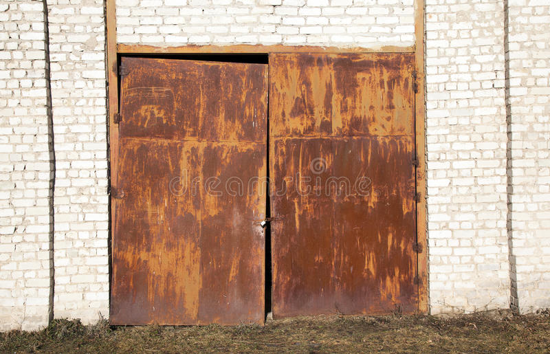 Download Old rusty gate stock image. Image of curve, garage, closeup - 27604849