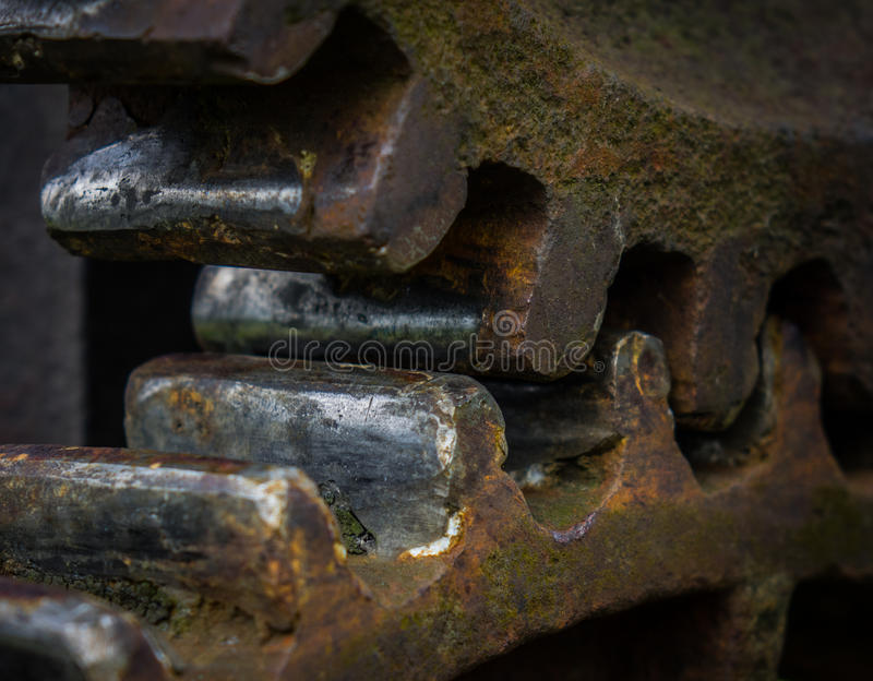 The old and rusty gear in sunlight.  royalty free stock images