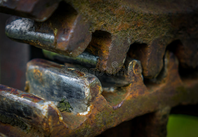 The old and rusty gear in sunlight.  royalty free stock photo
