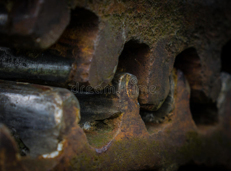 The old and rusty gear in sunlight.  royalty free stock photos