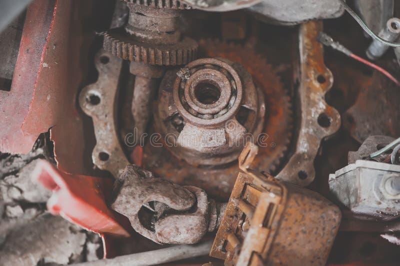 Old rusty gears. Macro. View stock image