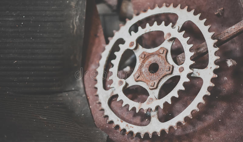 Old rusty gears. Macro. View royalty free stock photo