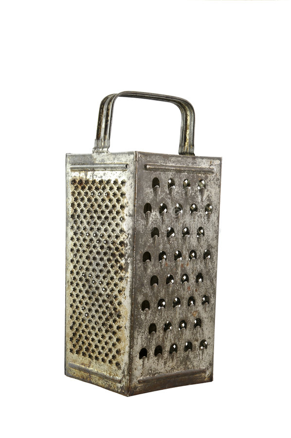 Old rusty grater stock photo