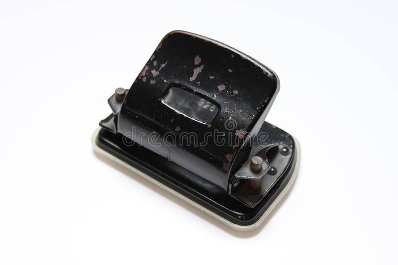 Old rusty hole punch royalty free stock photo