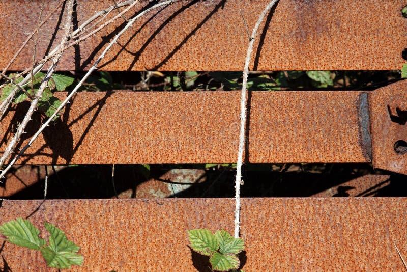 Old Rusty Iron Fence Panel Background Stock Photo - Image ...