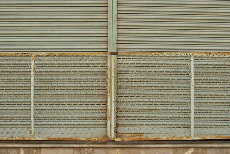 Old rusty iron gates locked royalty free stock image