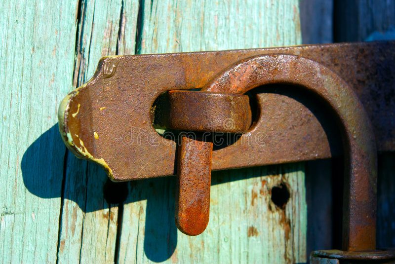 Download Old rusty lock stock photo. Image of material, object - 5291004