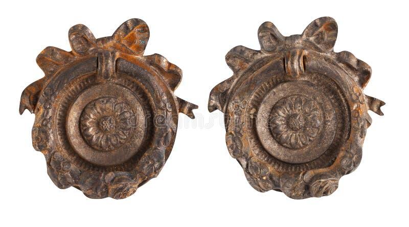Old rusty metal door handle royalty free stock photos