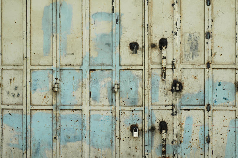 Old Rusty metal gate royalty free stock photography
