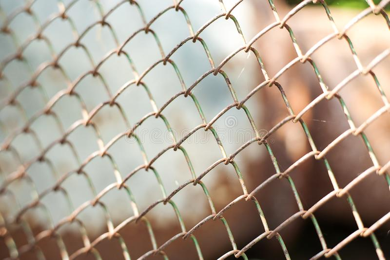 Old rusty metal grid. Grunge backdrop. Rustic textures stock image