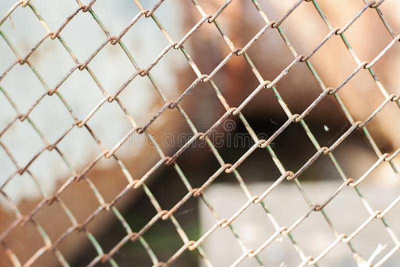 Old rusty metal grid. Grunge backdrop. Rustic textures royalty free stock photos