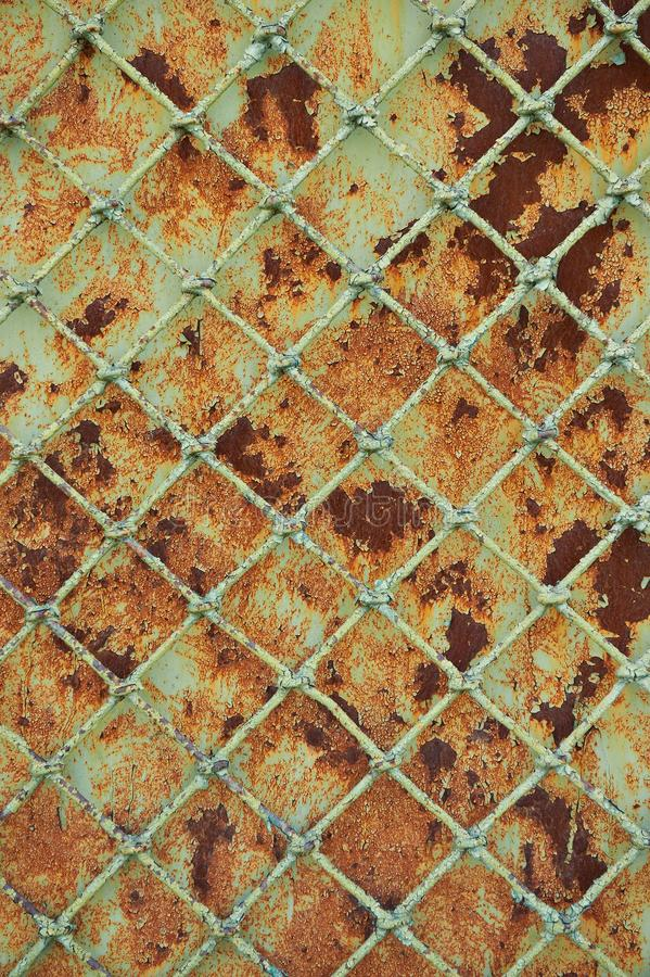Download Old Rusty Metal Grill Fence Stock Image - Image of green, decomposed: 19980099