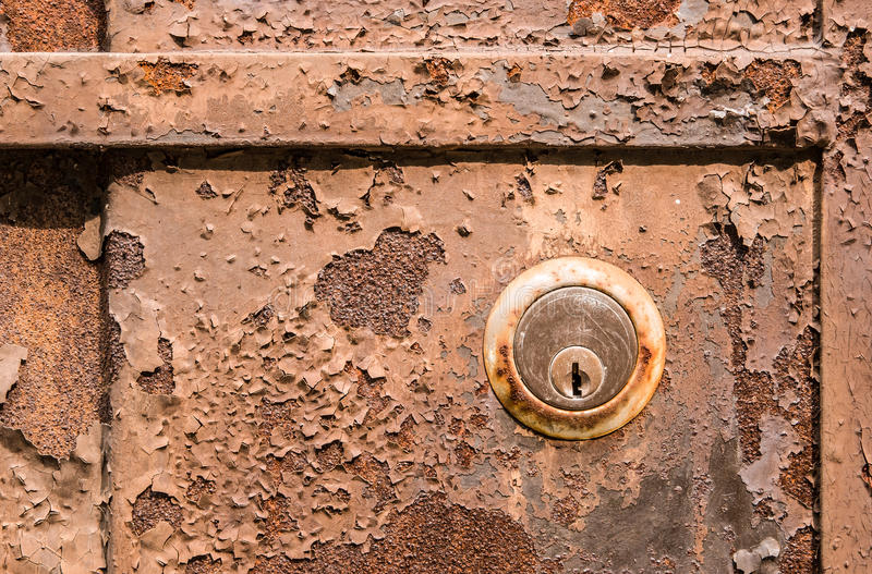 Download Old Rusty Metal Plate And Lock Stock Image - Image: 26586629