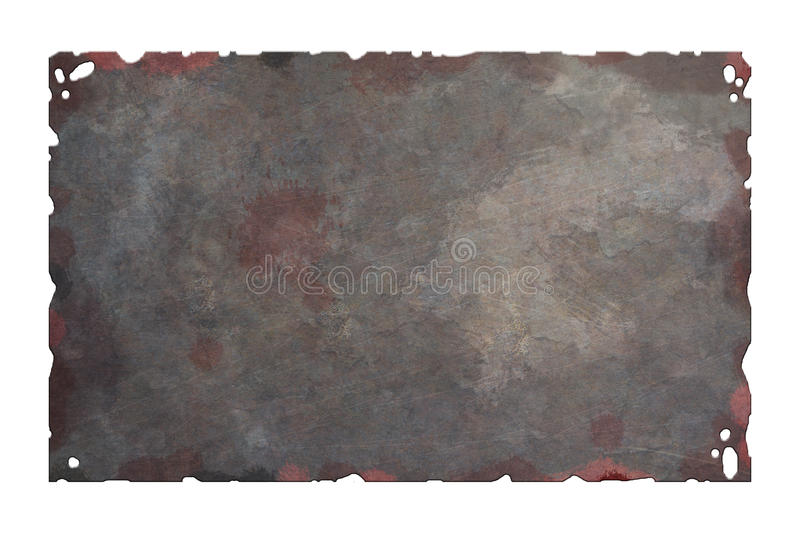 Old rusty metal plate stock illustration