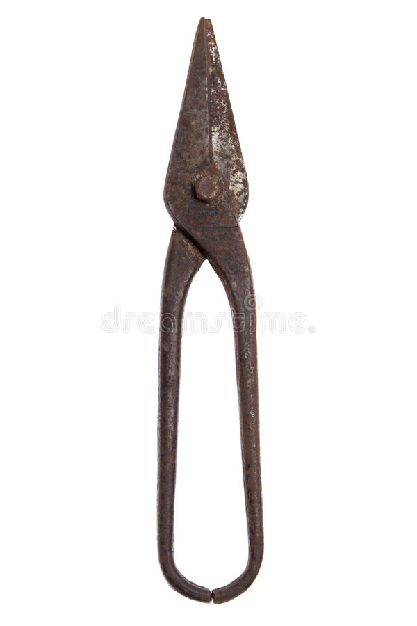 Old rusty metal scissors royalty free stock images