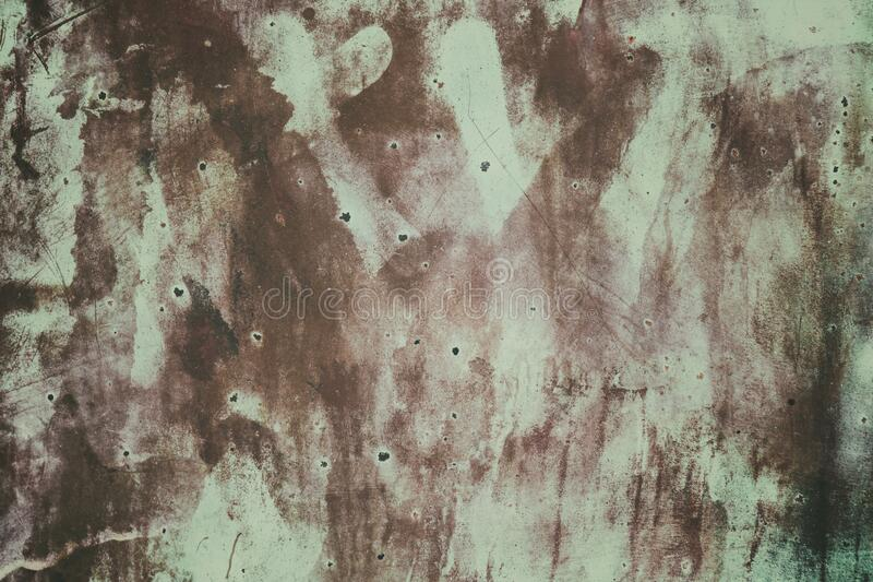 Old rusty metallic green painted abstract background stock images