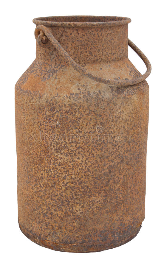 Download Old, Rusty Milk Jug stock image. Image of field, grass - 17749413