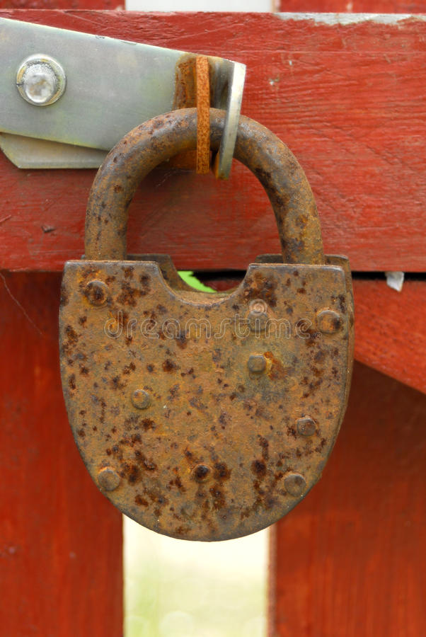 Download Old rusty padlock stock image. Image of metal, latch - 14629803