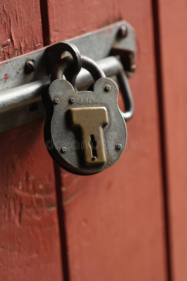 Old Rusty Padlock Safety Royalty Free Stock Images