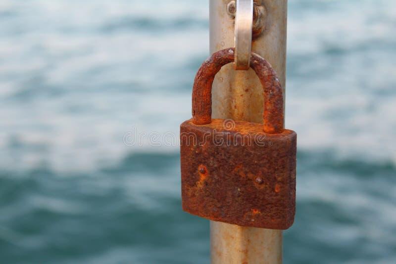 Old rusty padlock stock photography