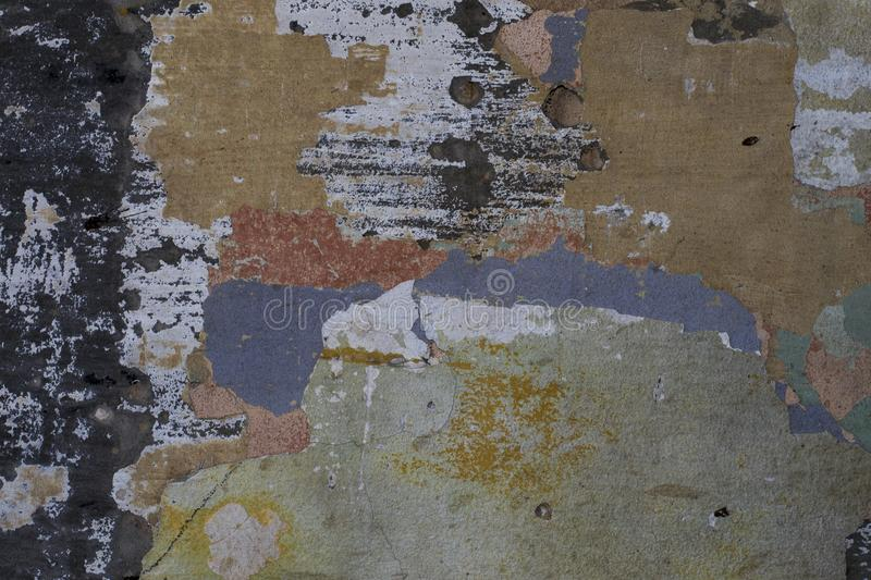 The Old rusty paint steel surface texture background stock photos
