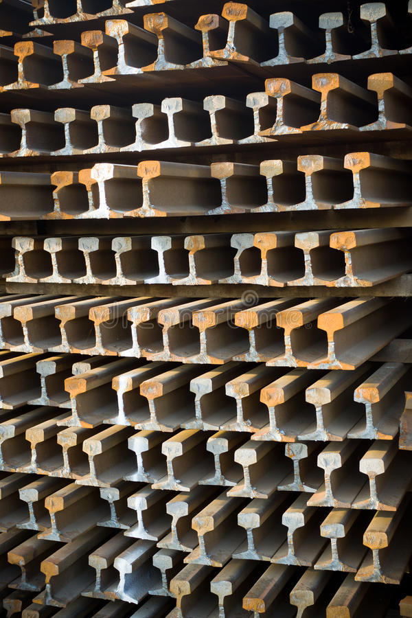 Download Old rusty rails stock photo. Image of placed, stack, background - 26710444